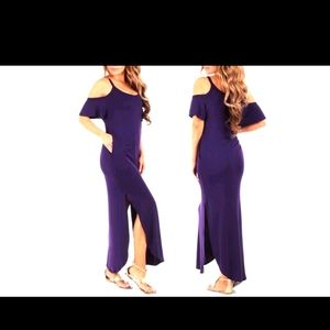 Rags & Couture Purple maxi dress with pockets